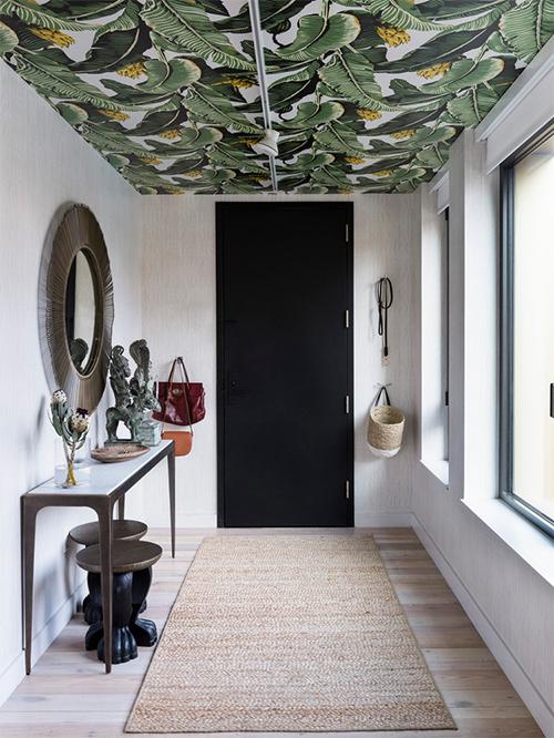 papel pintado techo entrada - 15 idees per decorar la casa
